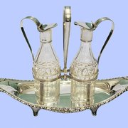 Sterling Silver & Crystal Oil and Vinegar sets available www.mplevene.co.uk
