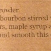 Recipe for the bourbon growler, totally worth the £10