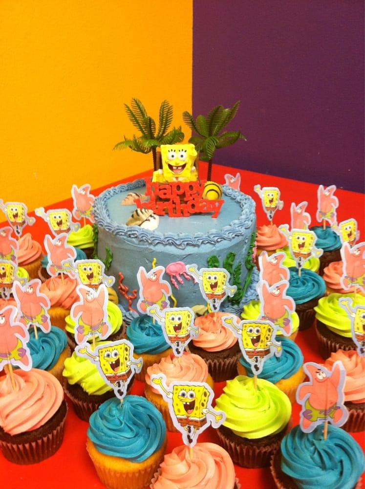Got Sponge Bob Candle Cupcake Toppers Palm Trees Sugar