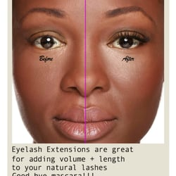 Eyelash extensions adds length and volume to your natural lashes.