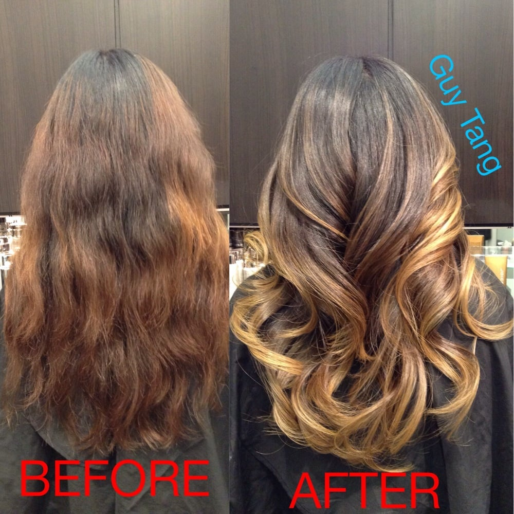 how to fix patchy orange ombre