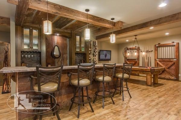 Rustic Basement Bar Pool Table Yelp