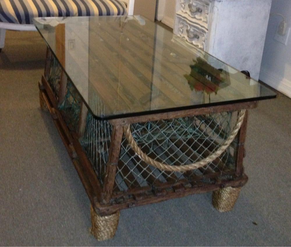 Lobster Trap Table lobster trap table side table coffee table vintage | Redroofinnmelvindale.com