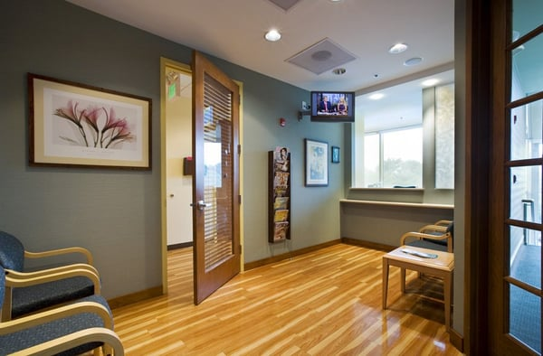 Columbia office waiting room serene colors and calming for Medical office paint colors