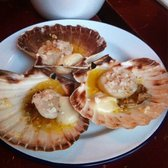 First time having scallops still in the shell! Just too much butter.