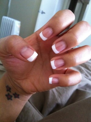 gel french manicure- my real nails no acrylic | Yelp