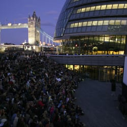 Film screening at The Scoop - the venue for the More London Free Festival
