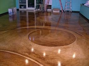 Stained concrete floors residential retail restaurant for How to clean concrete floors indoors