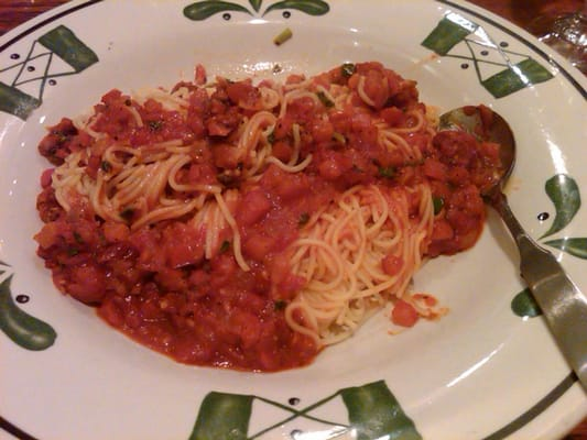 Capellini Pomodoro Roma Tomatoes Garlic Fresh Basil And