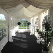 One end of Marquee can be used for dressing room/breakout area etc