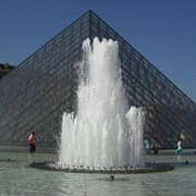 The Louvre central pyramid & fountain