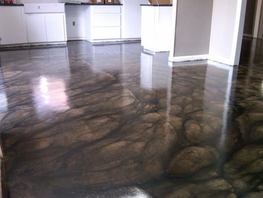 Grey Stained Concrete Floors Decor Ideas Concrete Floors Design Concrete S