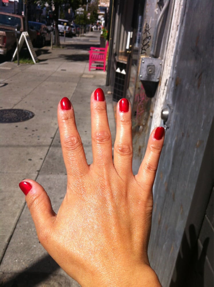 Gelish-gel manicure #17 on short nails. | Yelp