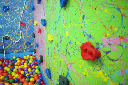12ft rock climbing wall with ball pit yelp for Ball pits near me