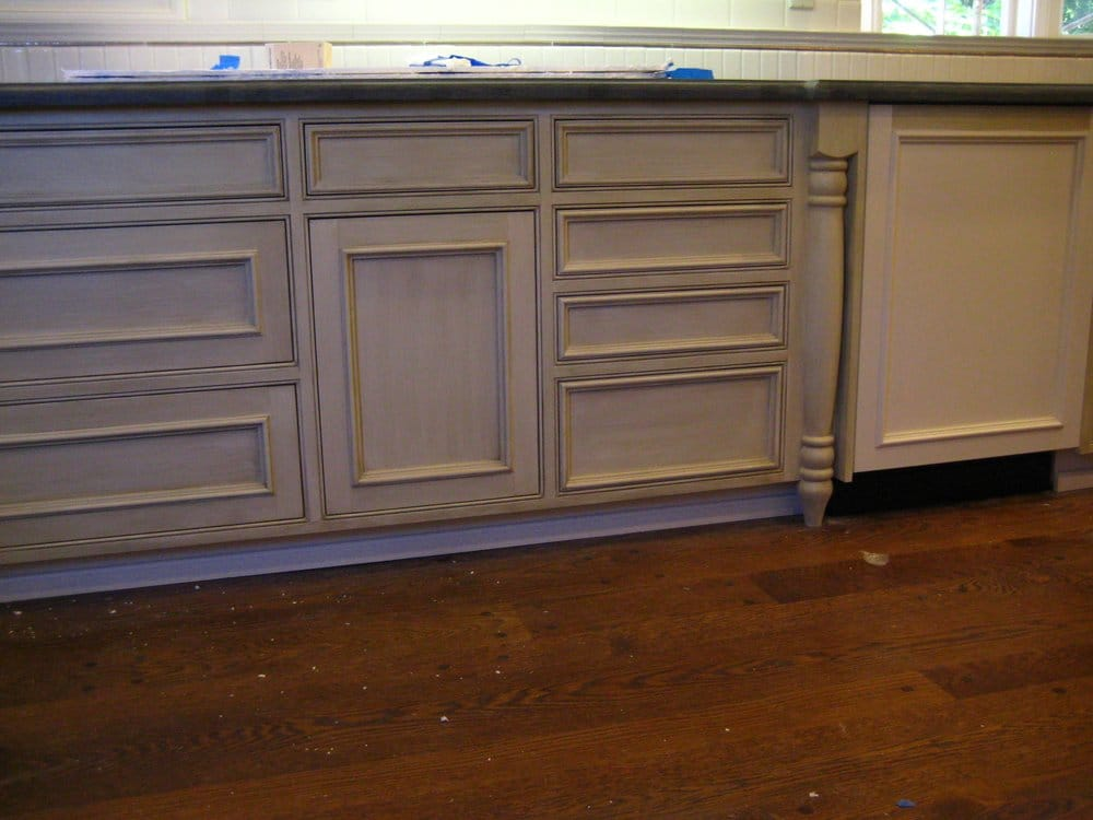antique glazing on kitchen cabinets yelp