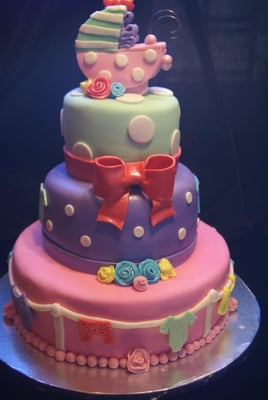 fondant cake baby shower leopard cake
