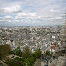 View from the top of Basilique du Sacre Couer de Montmartre #Paris