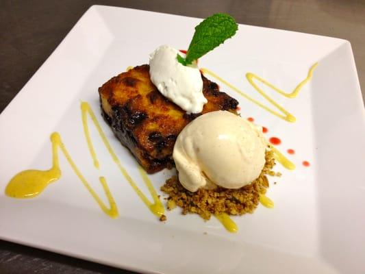 Brioche Bread Pudding: Italian Liquors, Dark Chocolate Chunks, Crème ...