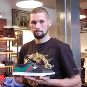 Tony Bellew picking out a smashing pair of Creative Recreation Trainers.