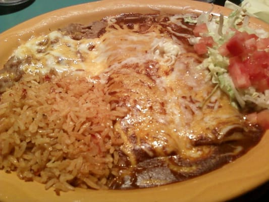 Enchiladas With Rice And Beans 2 cheese enchiladas wi...