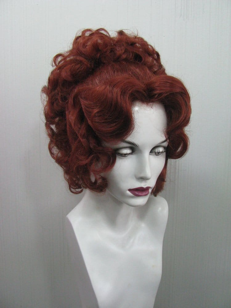 Edwardian hairstyle in red. | Yelp