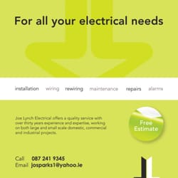 Joe Lynch Electrical - Free estimate provided