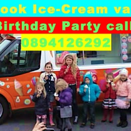 Check out the new ice-cream van. Very eye catching design, clean inside out.