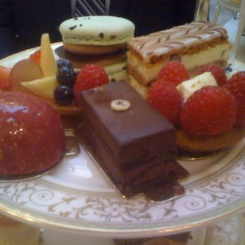 assorted tea pastries