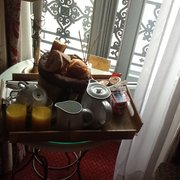 Continental breakfast at Hotel du Pantheon