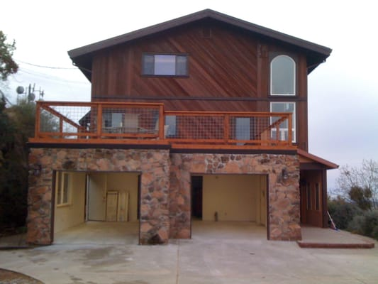 Custom garage with roof top deck yelp for Garage with deck on top