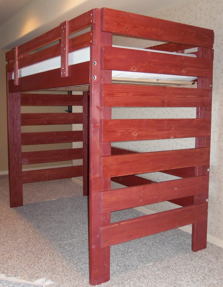 loft bed has room for desk dresser etc under top bunk yelp. Black Bedroom Furniture Sets. Home Design Ideas