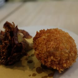 Fried Artichoke and Fried Olive stuffed w/ minced pork & veal
