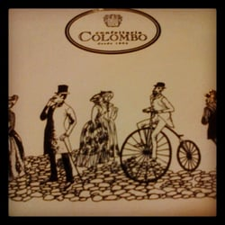 Fun place mat at Colombo! Over 100 years of deliciousness!!