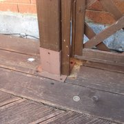 "Wooden structure left unsafe and unsecured, work ""completed""  by Aspect Maintenance"