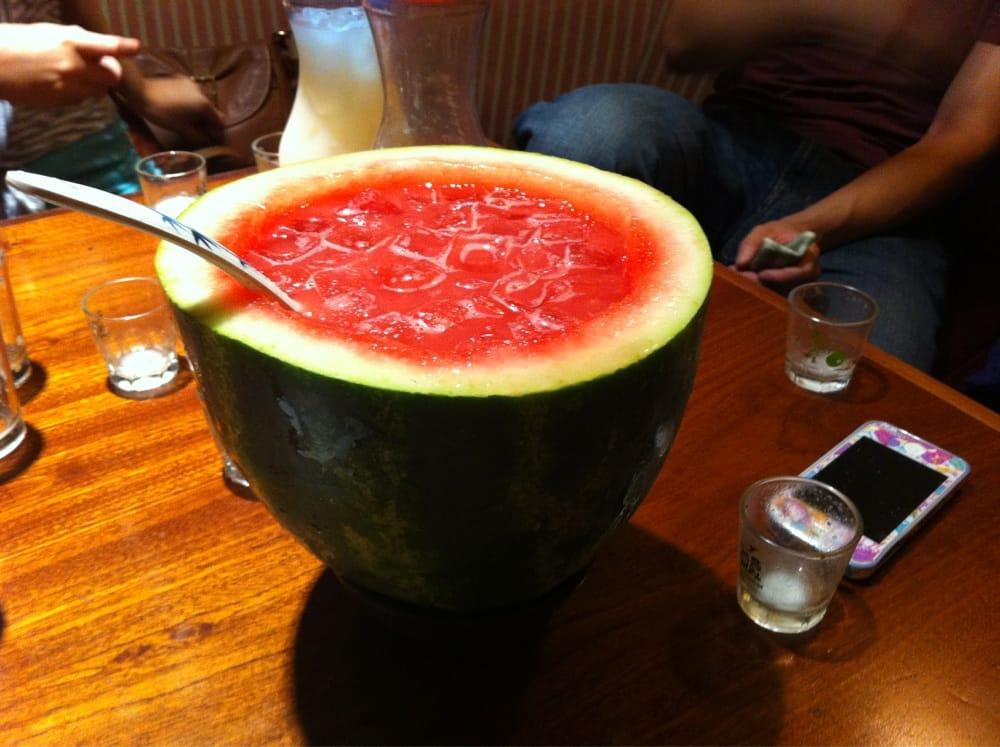 Watermelon Soju. The best Soju cocktail & it's not written on the men...