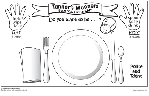 preschool good manners coloring pages - photo#19