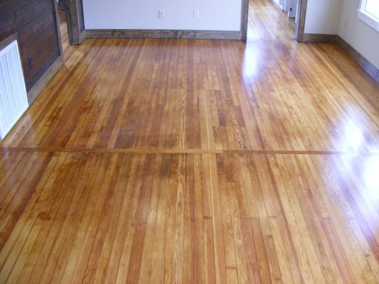 Refinished Antique Pine With Added Feature Strip Natural