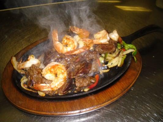 Steak and Shrimp Fajitas | Yelp