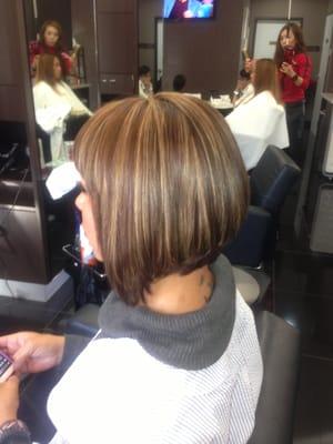 ... Bob Haircut Irvine Best Hair Salon Irvine 92604 | Dark Brown Hairs
