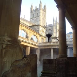 View of the Abbey from the Roman Baths
