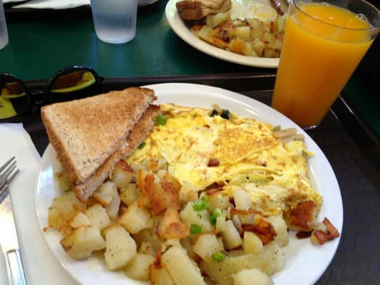 Western omelette. Mad busy and had to almost fight for chairs | Yelp