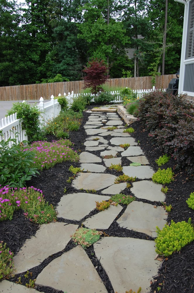 flagstone walkway and plantings by landvision designs yelp