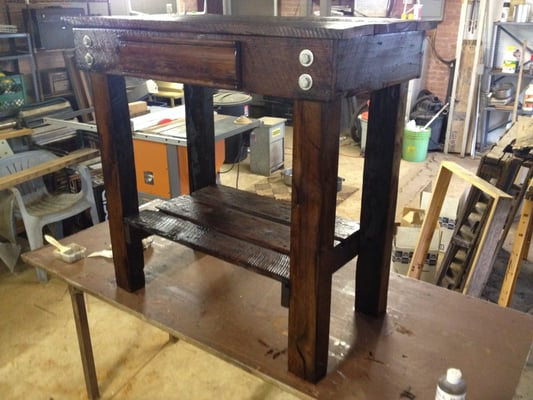 small kitchen island made from reclaimed wood hand made open base kitchen island from reclaimed wood by