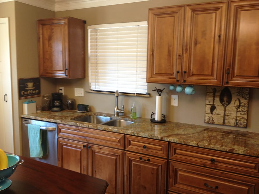 Kitchen cabinets knotty distressed maple austin tx yelp for Maple cabinets