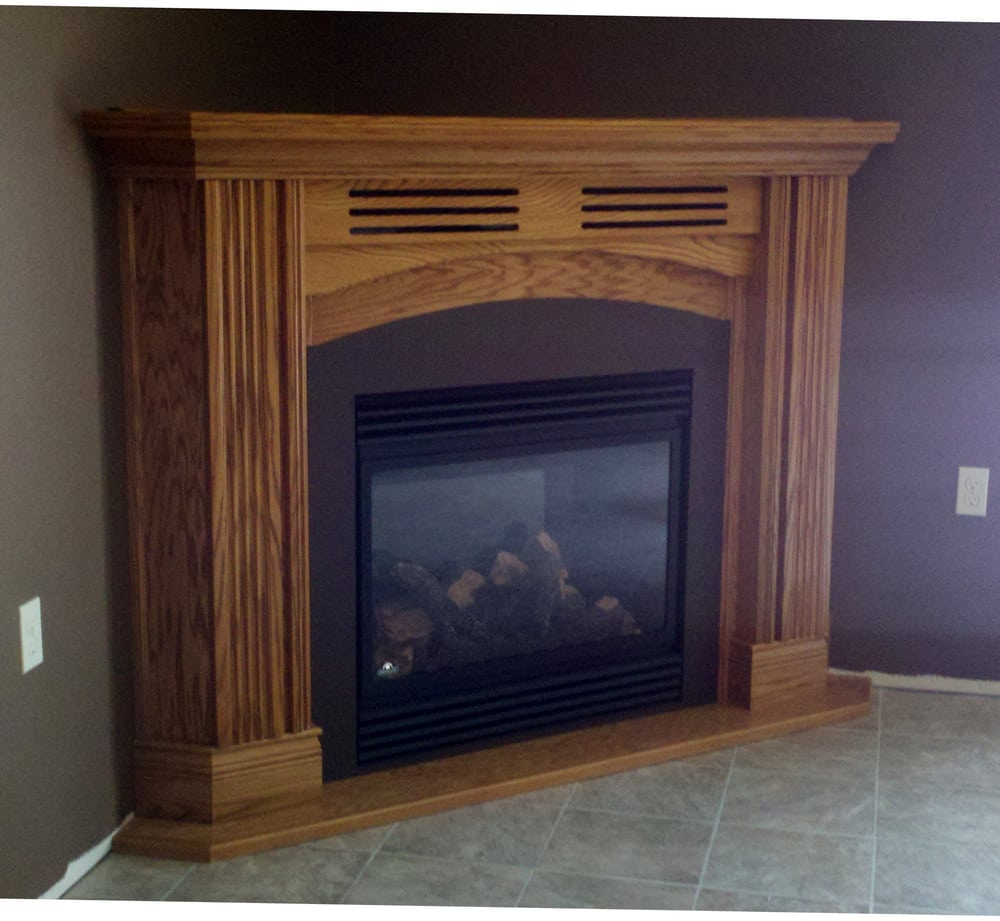 corner mantel with gas fireplace yelp
