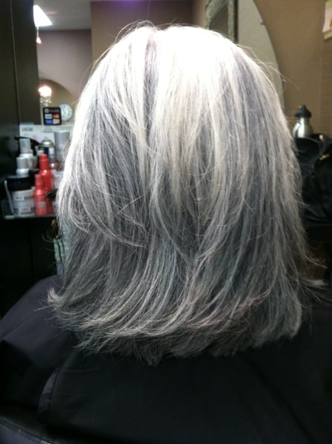 White Hair with Lowlights