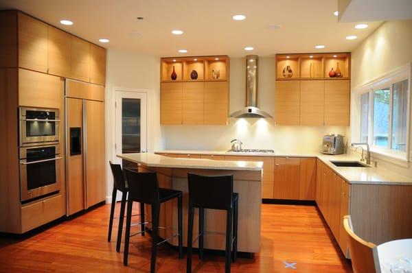 Fsc certified rift sawn white oak modern kitchen cabinets for Certified kitchen cabinets