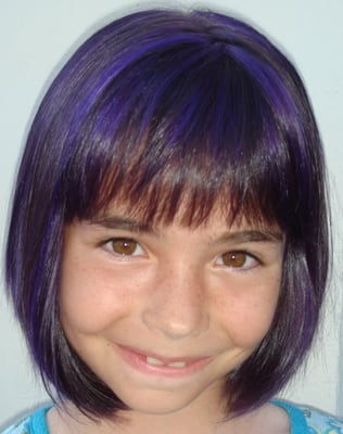 Displaying (18) Gallery Images For Purple Lowlights On Black Hair...