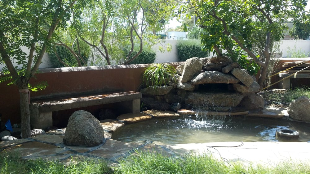 Front Yard Pond With Small Waterfall Great As A Mini Pool Or A Fish Pond With Coy And Water