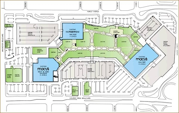 Mall Hours: Map Of Westfield Valley Fair Mall